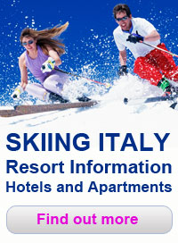Skiing in Italy, Resort information, hotels and apartmentsin Dolomites and Alps